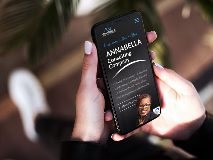 annabella consulting website on a mobile device