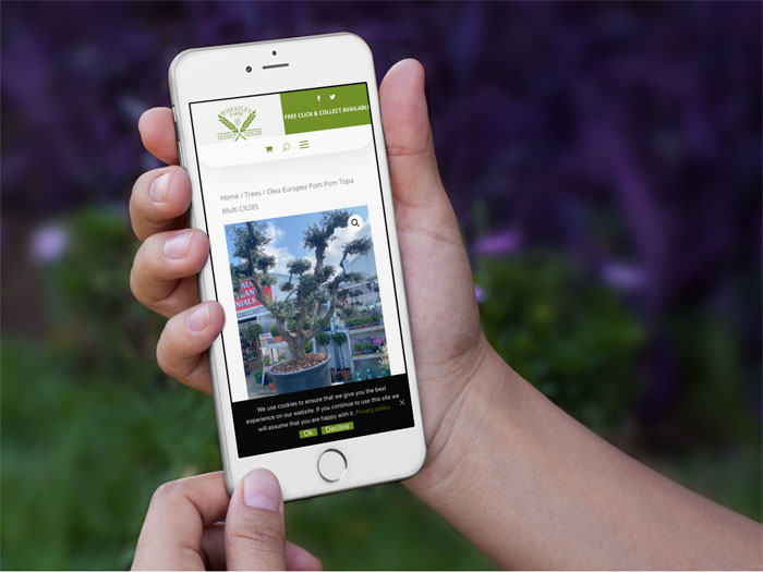 Wheatley Farm website on a mobile devices