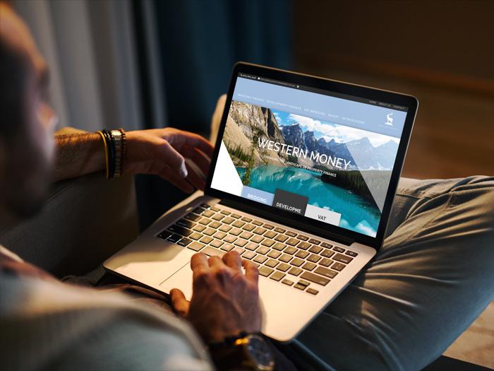 Western Money website on a laptop computer