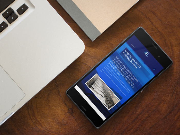 KAPS Finishing website on a mobile device