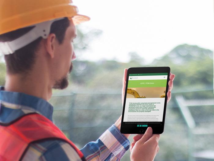 Enviroawards website on a tablet device