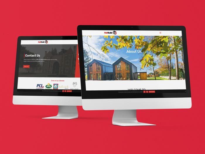 Hallbuild website on devices