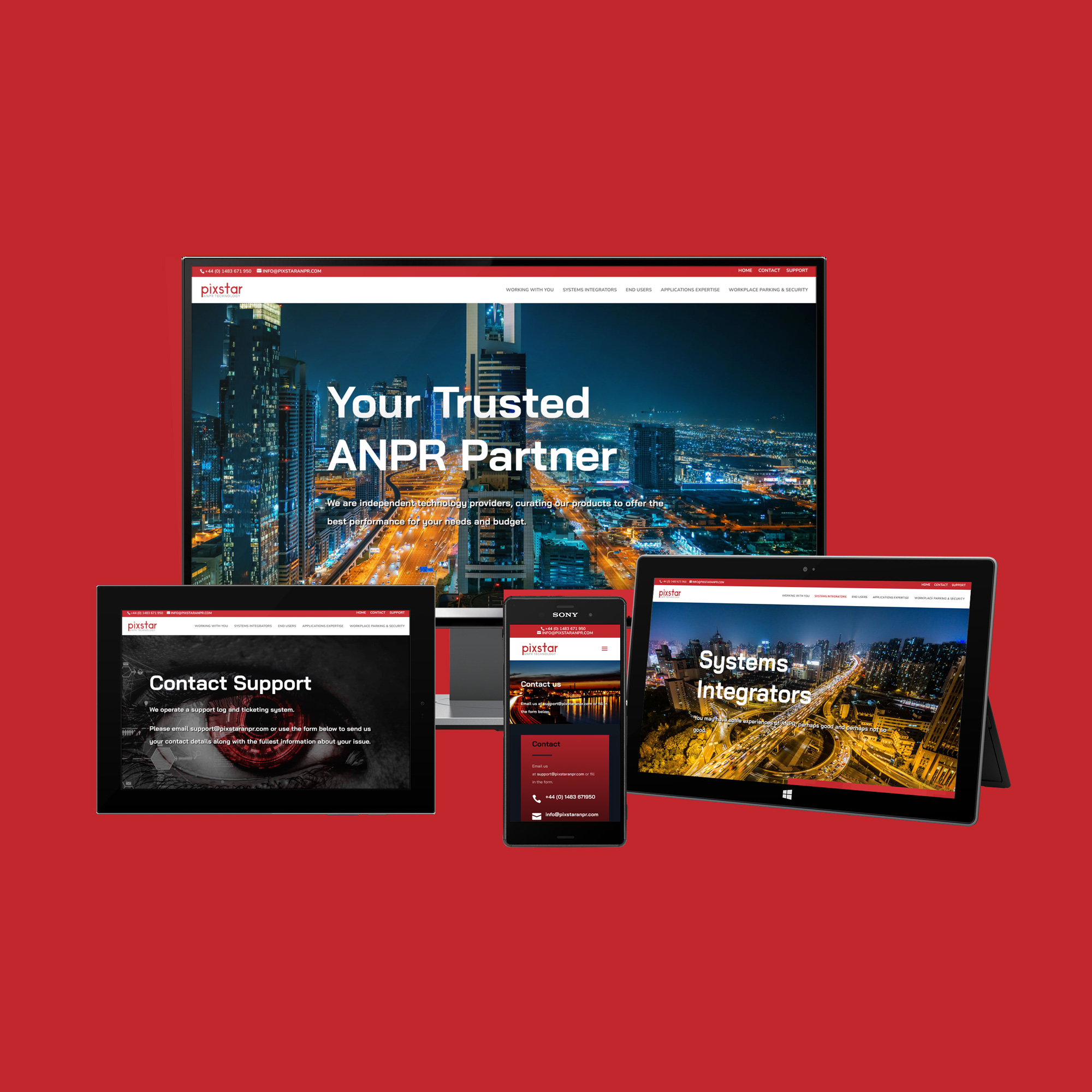 PixStar Website on multiple devices