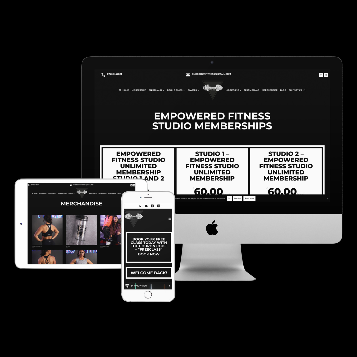 Empowered Fitness by GNC website on multiple devices