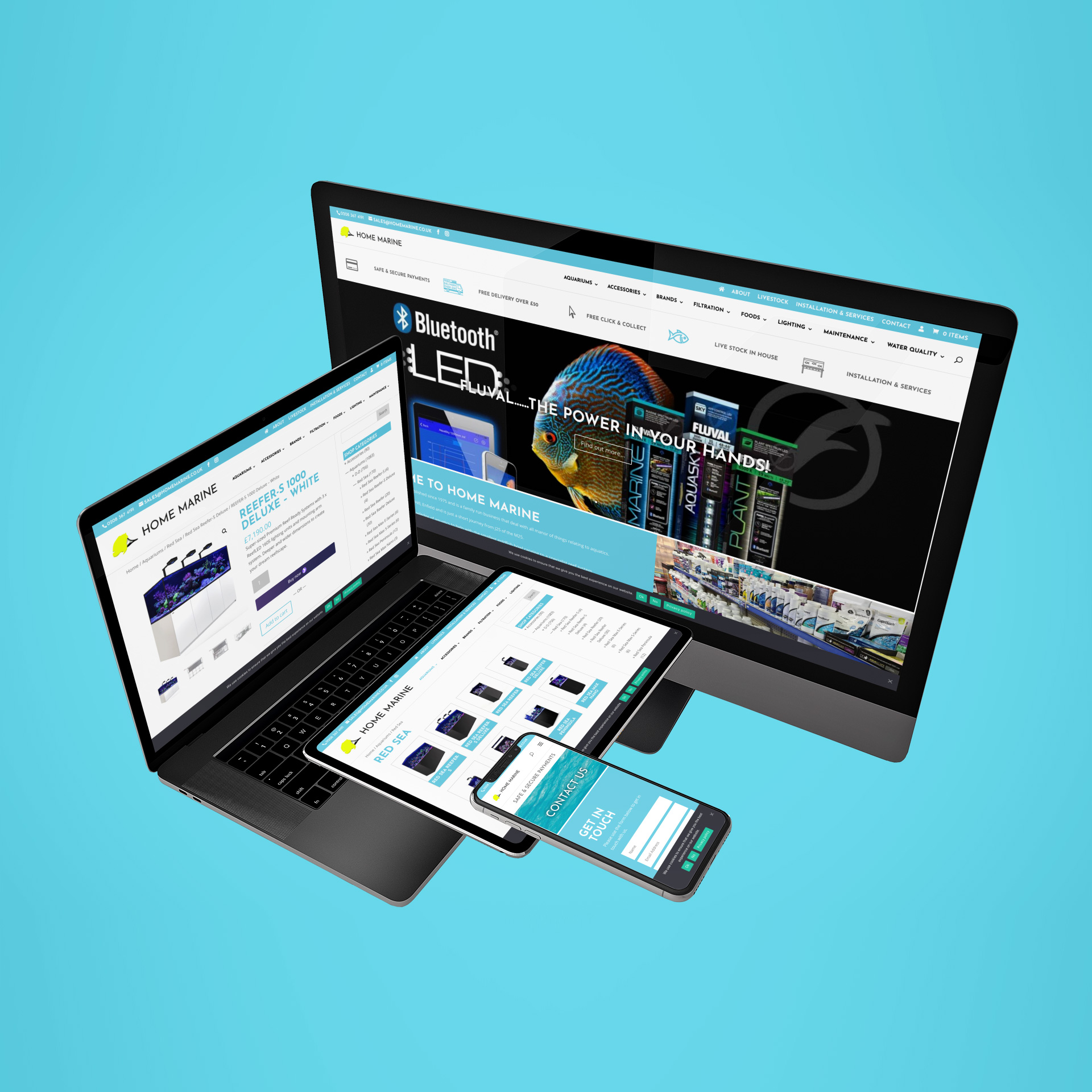 Home Marine website on multiple devices