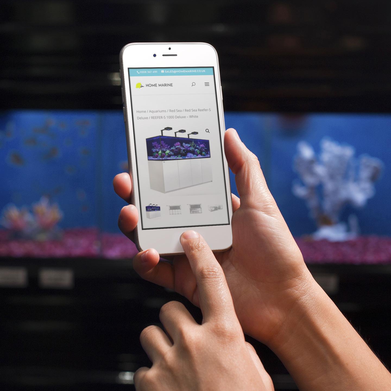 Home Marine Website on iphone